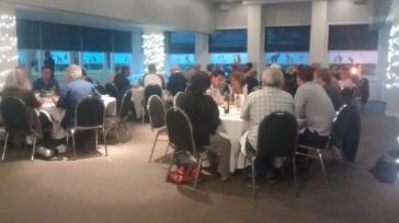 Conference delegates at dinner